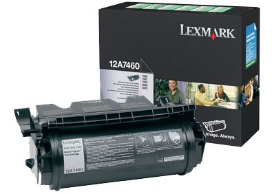 Cartus Laser Lexmark 12A7460 Return Program pentru T630 T632 T634