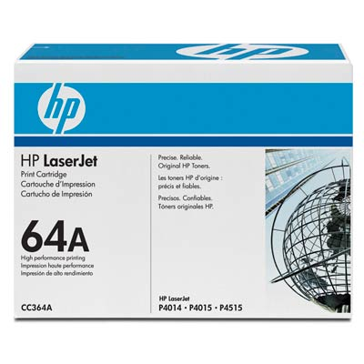 Cartus Laser HP CC364A Black Print Cartridge with Smart Printing Technology