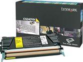 Cartus Laser Lexmark C5240YH Return Program Yellow de mare capacitate pentru C524 C532 C534