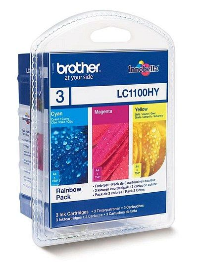 Packet 3 Cartuse Inkjet Brother LC1100 Magenta Yellow si Cyan