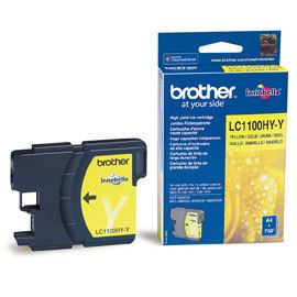 Cartus inkjet Brother LC1100 Yellow 750 pagini