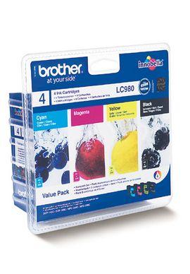 Packet 4 Cartuse Inkjet Brother LC980 Black Magenta Yellow si Cyan
