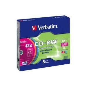 CD-RW Serl Color 12X 700MB Case 5 pret pe bucata