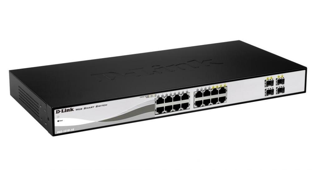 Switch D-Link DGS-1210-16 cu management fara PoE 16x1000Mbps-RJ45 + 4xSFP