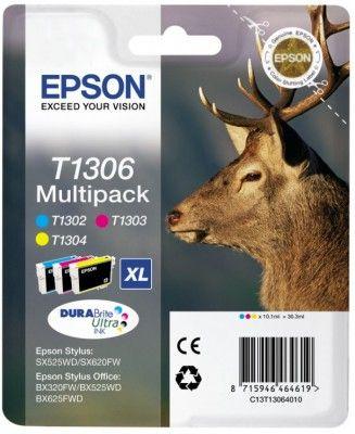 Pachet Cartuse Inkjet Epson T1306 C M Y