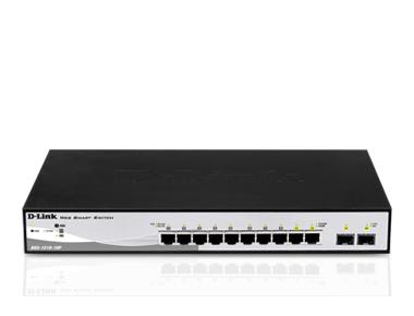 Switch D-Link DGS-1210-10P cu management cu PoE 8x1000Mbps-RJ45 (PoE) + 2xSFP
