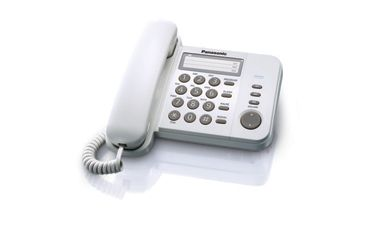 Telefon analogic cu memorie Panasonic KX-TS520FXW (Alb)