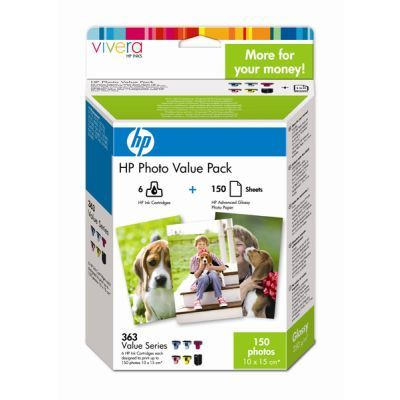 Cartus Inkjet HP 363 + hartie 150 pag 210g Q7966EE