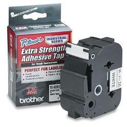 Bandă laminată/puternic adezivă Brother TZS261 8m/36mm negru/alb
