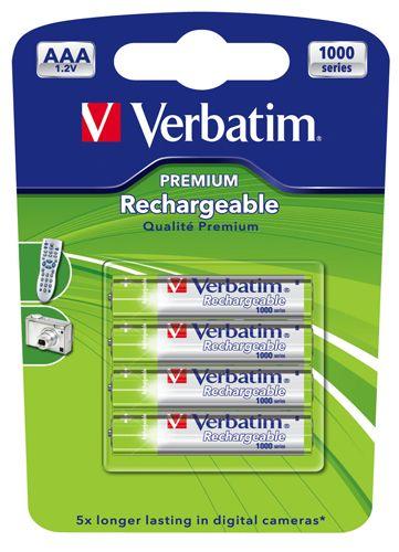 Set 4 acumulatori AAA Verbatim 1000mAh 1.2V NiMH