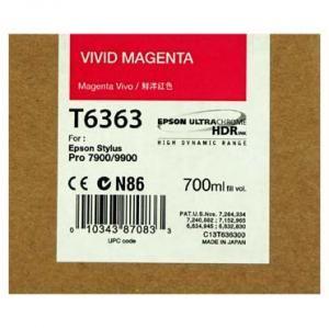Cartus Inkjet Epson Vivid Magenta T636300 UltraChrome HDR 700 ml