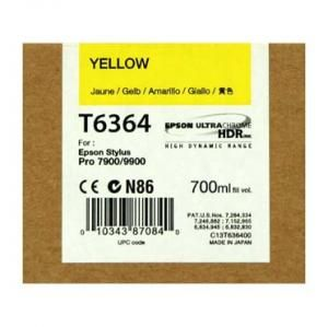 Cartus Inkjet Epson Yellow T636400 UltraChrome HDR 700 ml
