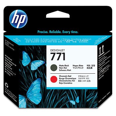 Cap de imprimare HP 771 Matte Black/Chromatic Red