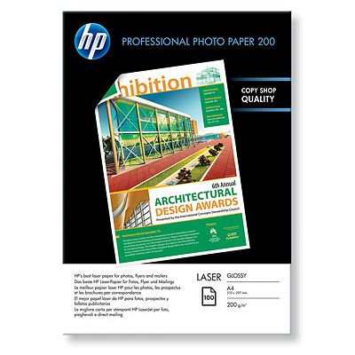 Hartie Laser Foto HP Professional Glossy Laser Photo 200 gsm-100 sht/A4/210 x 297 mm