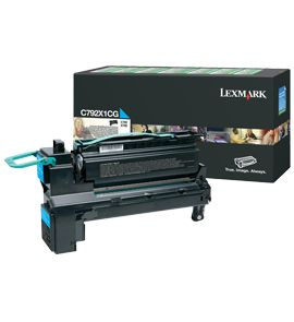 Cartus Laser Lexmark Cyan pentru C792 (20K) Return Program