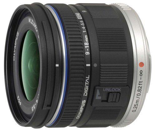 Obiectiv foto pentru Olympus PEN M.ZUIKO DIGITAL ED 9-18mm 1:4.0-5.6 negru / EZ-M918