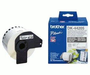 Bandă continuă de hârtie Brother DK44205 62 mm x 30 48 m negru/alb