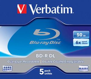 Verbatim BD-R DL 50GB 6x 5 Pack Jewel Case pret pe bucata