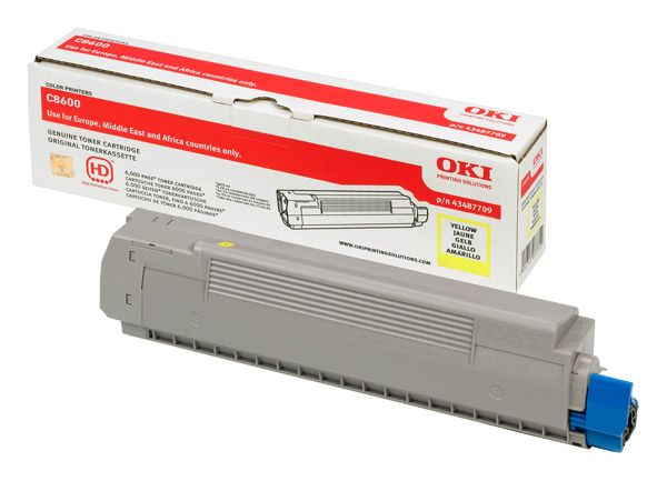Toner Oki yellow C8600 C8800