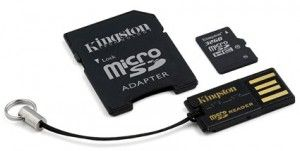 Card de Memorie Kingston microSDHC 32GB Clasa 10 + Adaptor si Cititor USB