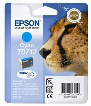 Cartus Inkjet Epson Cyan T0712