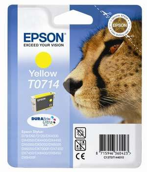 Cartus Inkjet Epson Yellow T0714