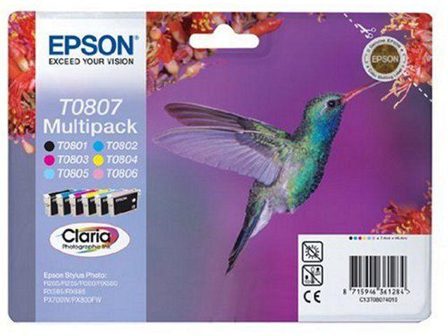 Pachet 6 Cartuse Inkjet Epson LC LM C M Y K T0807
