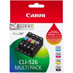 Pachet 3 Cartuse Inkjet Canon C/M/Y CLI-526