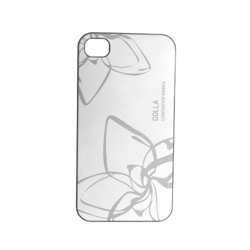Back cover Golla LIQD SILVER for iPhone 4