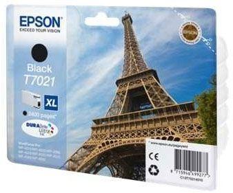 Cartus Inkjet Epson Black T7021(2.4K) pentru WP4000/4500