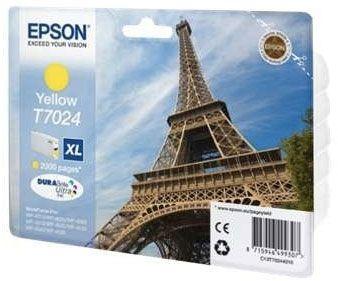 Cartus Inkjet Epson Yellow T7024(2.4K) pentru WP4000/4500