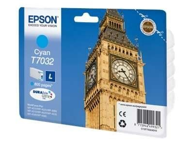 Cartus Inkjet Epson Cyan T7032(0.8K) pentru WP4000/4500