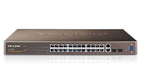 Switch Tp-Link TL-SL3428 cu management fara PoE 24x100Mbps-RJ45 + 2x1000Mbps-RJ45 (sau 2xSFP)