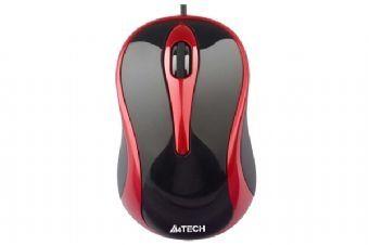 Mouse A4Tech N-350-2 USB Negru+Rosu