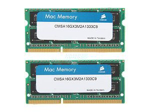 Memorie Notebook Corsair pentru Mac DDR3-1333 16GB (2x8GB)