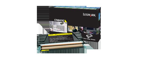 Cartus Laser Lexmark Yellow Return Program C748 (10K)