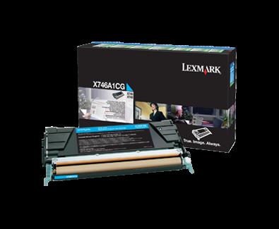 Cartus Laser Lexmark Cyan pentru X746 X748 (7k) Return Program