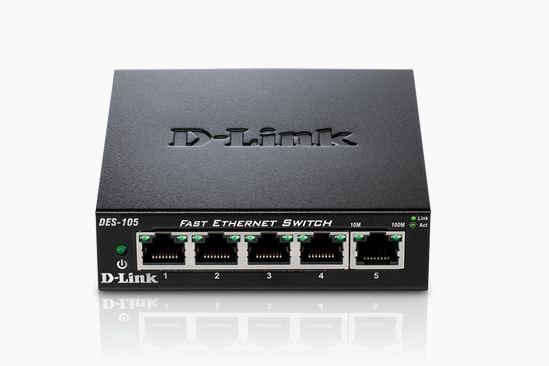 Switch D-Link DES-105 fara management fara PoE 5x100Mbps-RJ45