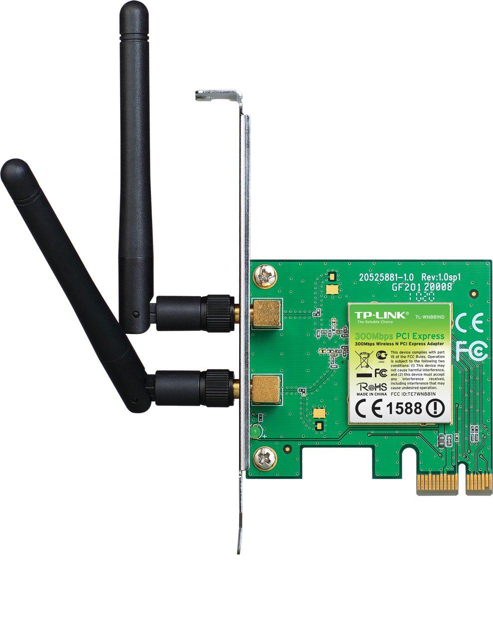 Placa de retea Tp-Link TL-WN881ND interfata calaculator: PCI-E x1 rata de tranfer pe retea: 802.11n-300Mbps