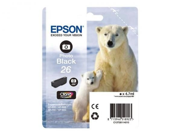 Cartus Inkjet Epson 26 Photo Black T2611