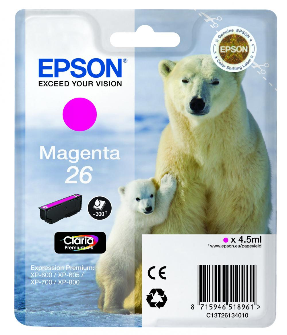 Cartus Inkjet Epson 26 Magenta T26134010