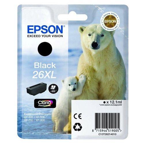Cartus Inkjet Epson 26XL Black T26214010