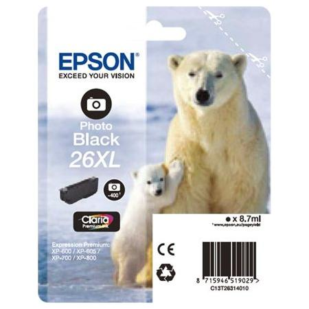 Cartus Inkjet Epson 26XL Photo Black T26314010