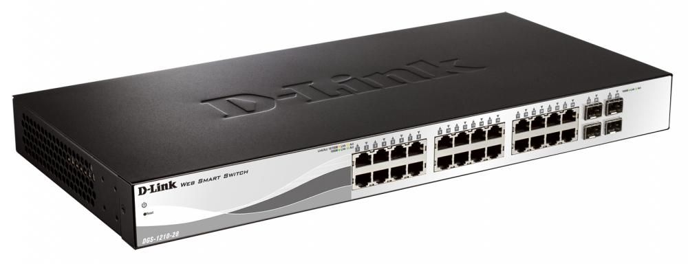Switch D-Link DGS-1210-28 cu management fara PoE 24x1000Mbps-RJ45 + 4xSFP