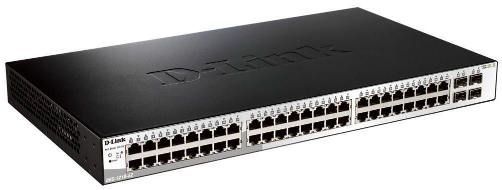 Switch D-Link DGS-1210-52 cu management fara PoE 48x1000Mbps-RJ45 + 4xSFP