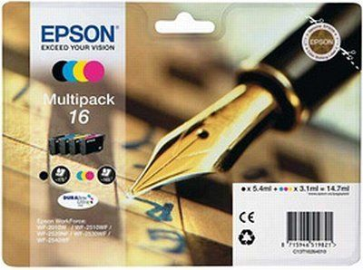 Pachet 4 Cartuse Inkjet Epson 16 C/M/Y/K T16264010 Pen and Crossword'