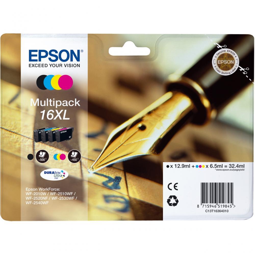 Pachet 4 Cartuse Inkjet Epson 16XL C/M/Y/K T16364010