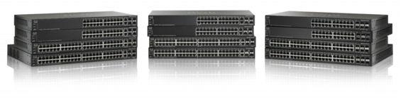 Switch Cisco SF500-24 cu management fara PoE 24x100Mbps-RJ45 + 2x1000Mbps-RJ45 (sau 2xSFP) + 2xSFP