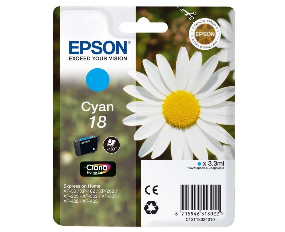 Cartus Inkjet Epson 18 Cyan T18024010