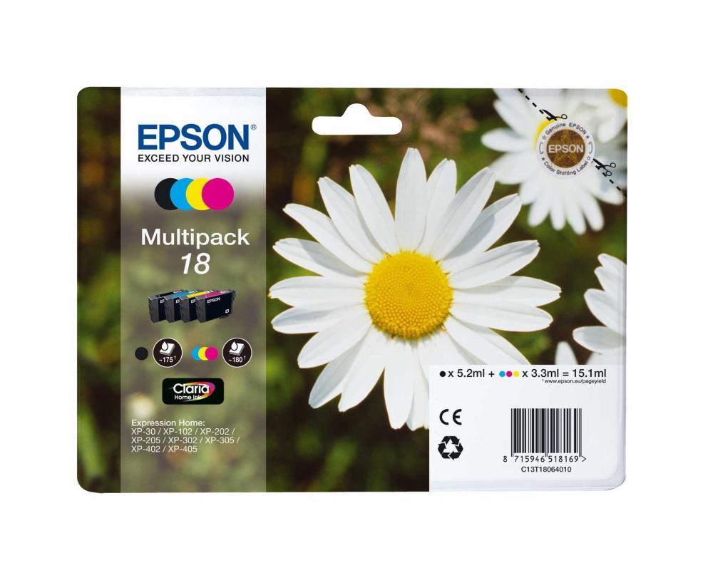 Pachet 4 Cartuse Inkjet Epson 18 C/M/Y/K T18064010